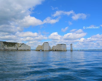 Old Harry Rocks - Jurassic Coast Dorset - Digital Photography - Instant Download - Photo Art - Print
