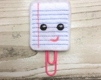 Notepad planner clip, felt paper clip, kawaii, planner clip, planner accessory, planner accessories, planner supplies, cute planner
