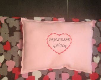 Personalized fleece approximately 40 X 30 pillow