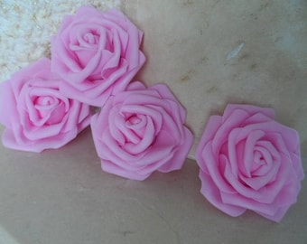 set of 5 7 cm rose flowers appliques for sewing or craft