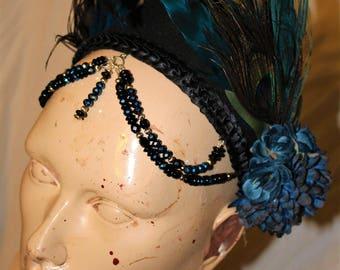 Blue Belly Dancer Head Piece