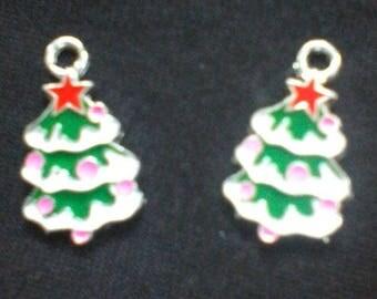 enameled metal Christmas tree