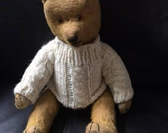 Old Straw Stuffed Precious and Rare Vintage Mohair Toy Bear