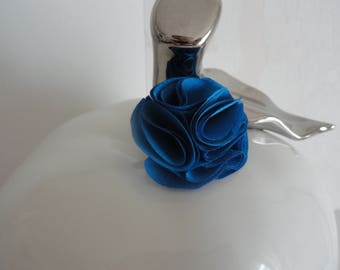 """ring with a blue flower royal """"Princess Cinderella"""""""