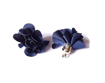 Dark blue fabric tassel