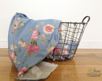 Vintage floral baby blanket