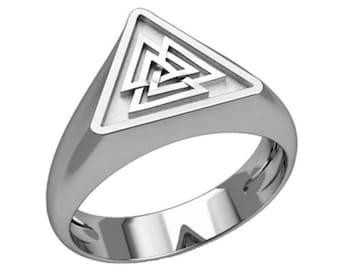 Valknut Symbol Unisex Ring Sterling Silver 925 SKU30345