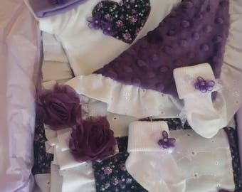 Purple Baby Blanket Gift Set