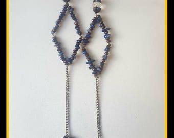 Lapis Luzuli Crystal Earrings