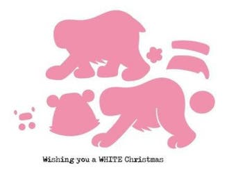 Die cut Marianne Design Collectables Eline's Polar bear new