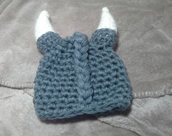 Beautiful Viking hat with horns for small children!