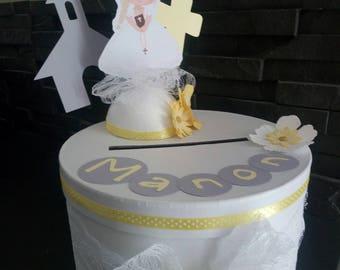 original creation of URN and customizable wedding, baptism, communion, birthday (here for communion)