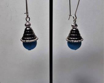 Dark turquoise earrings