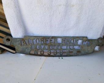 Antique Metal Sign Altorfer Bros Co