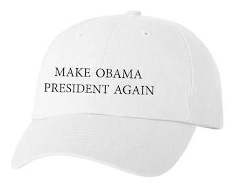 Make Obama President Again Custom Dad Hat Adjustable Baseball Cap New -White
