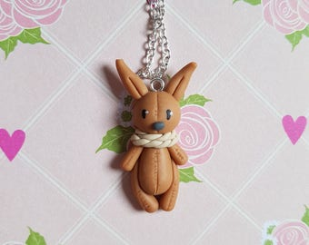 """The toy animals """""""" (Brown) necklace"""