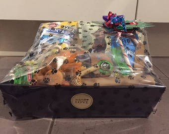 Handmade Quality Dog / Puppy Treat Hamper - Birthday / Special Occasion