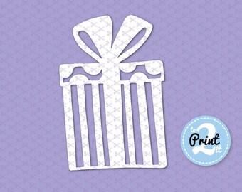 Gift box SVG Cutting Files, gift box clipart, gift box cricut cut files, gift box silhouette, gift box clip art, Present svg, box template