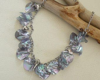 """Original necklace """"Pearly gray"""""""