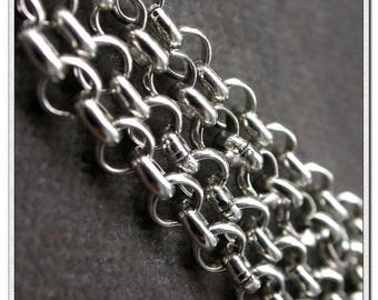 silver plated over brass chain link silver chain 50cm round