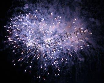 Fine art photography - blue sparks: 30 x 20 cm
