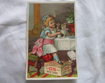 Antique Victorian Trade Card B T Babbatt's Soap