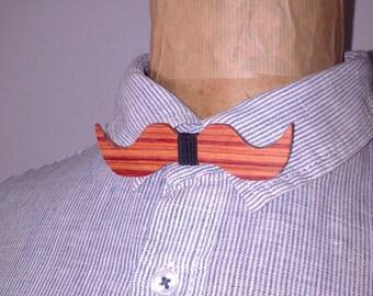 Bow tie mustache rosewood