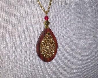 Cocobolo wood necklace