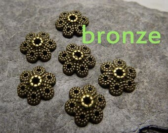 6 bronze of Cup: 10mm, thickness: 3mm, hole: 1.5 mm