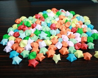 Multicolored origami stars