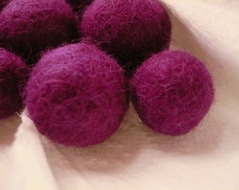 Pearl light purple felted wool, Merino, entre15 and 18mm