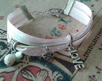 """""""Liberty"""" the colors soft and charm type bracelet"""