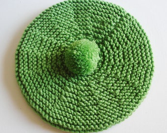 Beret for baby - sea foam - green - size 0-3 months