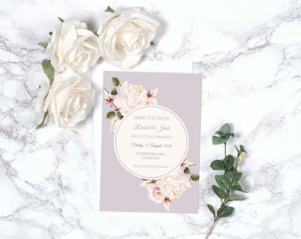 Floral Wedding Save the Date – Personalised – A5