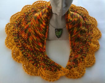 Multicolored acrylic soft and warm knitted shawl