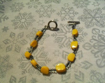 unique bracelet black and yellow very warm