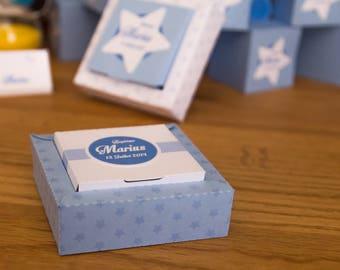 Box - star Theme - boy baptism favors box
