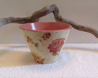 "Pine from the Landes pot authentic Terra cotta ""roses"""