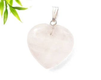 Silver plated - Crystal heart pendant