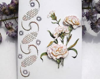 103 eyelets 3D branch embroidered greeting card