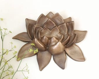 Lotus Flower Art, Lotus Flower, Yoga Wall Art, Lotus Sculpture, Lotus Wall Art, Boho Decor, Bohemian Wall Art, Bohemian Home