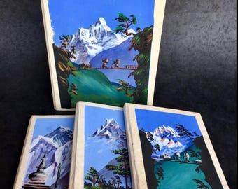 Hand Painted Lokta Journal Made In Nepal Handmade