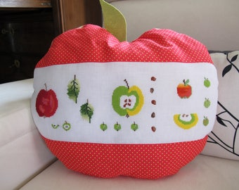 Red Apple shaped cushion