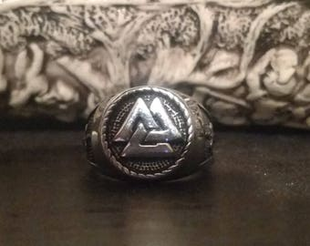 Old Norse Valknut Warriors ring
