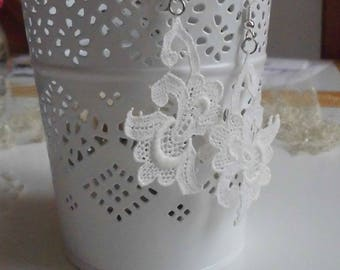 antique lace, Silver earrings