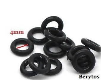 10 rings / washers black rubber for Pandora beads