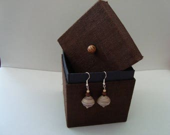 Ultra light Earrings from recycled paper