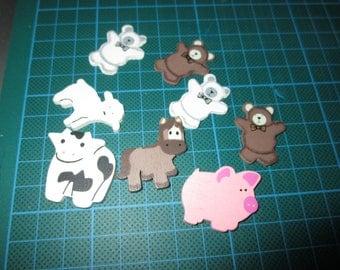 set of wooden animals