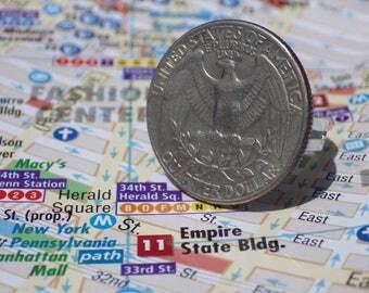 Ring piece / quarter dollar American / ring USA
