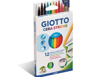 1 x 12 - GIOTTO wax 3 pencil - Ref 281800